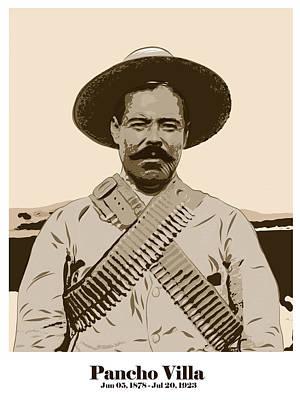 Digital Art - Pancho Villa by Antonio Romero