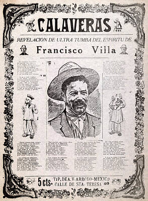 Pancho Villa. Calaveras, Revelation Art Print by Everett