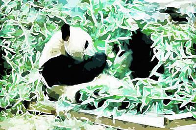 Park Painting - Panda 2 by Lanjee Chee