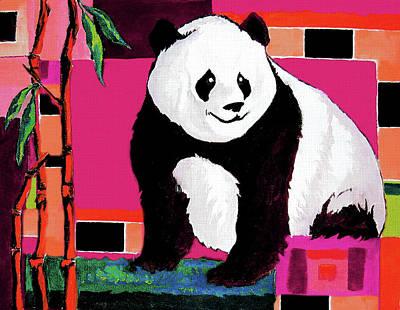 Panda Abstrack Color Vision  Art Print
