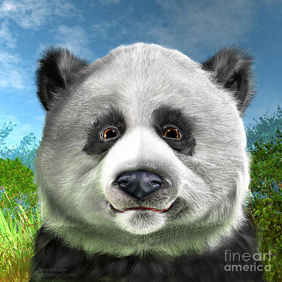 Deforestation Painting - Panda Bear by Shiny Thoughts