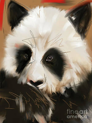 Painting - Panda Bear by Go Van Kampen