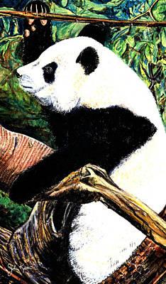 Drawing - Panda Bear by John Keaton