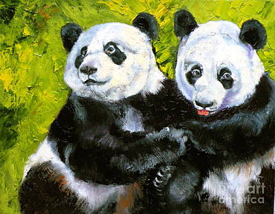 Painting - Panda Date by Susan A Becker