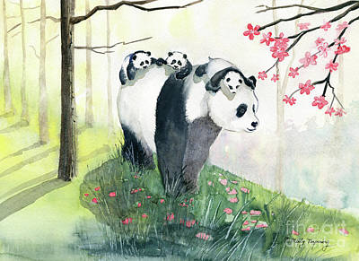 Painting - Panda Family by Melly Terpening