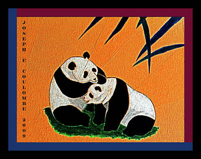Painting - Panda Friends by Joseph Coulombe