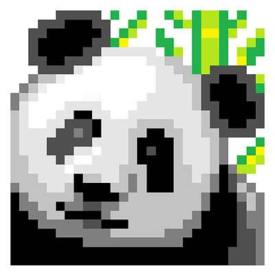 Digital Art - Panda by Gerald Lynch