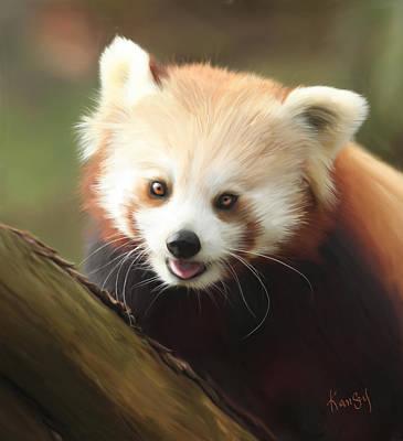 Painting - Panda by Johanne Dauphinais