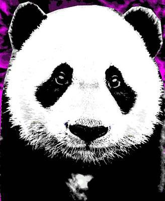 Giant Panda Mixed Media - Panda Large by Otis Porritt