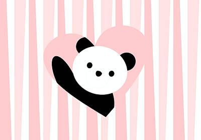 Adorable Digital Art - Panda Love by Kourai