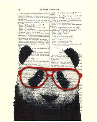 Adorable Digital Art - Panda Nursery Art by Madame Memento