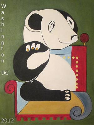 Panda Picasso Art Print by Patricia Cleasby