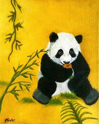 Panda Power Art Print