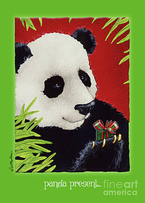 Painting - Panda Present... by Will Bullas
