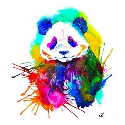 Painting - Panda Splash by Zaira Dzhaubaeva