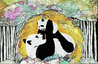 Mixed Media - Pandas by Annalisa Loevenguth