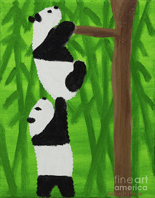 Autism Painting - Pandas by Artists With Autism Inc