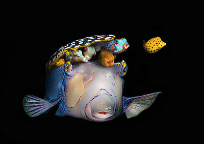 Puffer Digital Art - Pandora's Box Fish by Dray Van Beeck