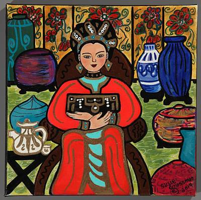 Oriental Teapot Painting - Pandora's Box by Susie Grossman