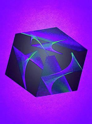 Green Surreal Geometry Digital Art - Pandora's Folly by Susan Maxwell Schmidt