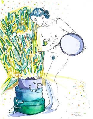 Painting - Pandora's Magic Hat Box by D Renee Wilson