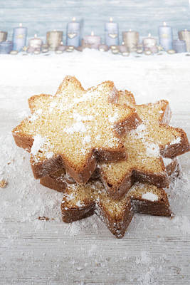 Photograph - Pandoro, Italian Christmas Star Spice Cake by Jean Gill