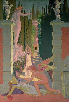 Aphrodite Painting - Panel 4 - The Vengeance Of Venus by Maurice Denis