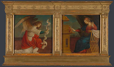 Panels From An Altarpiece   The Annunciation Art Print