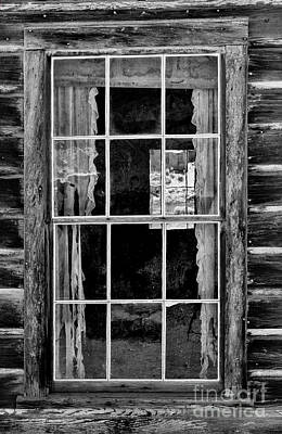 Log Cabins Photograph - Panes To The Past by Sandra Bronstein