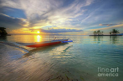 Photograph - Panglao Island Sunset by Yhun Suarez