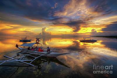 Print featuring the photograph Panglao Port Sunset 10.0 by Yhun Suarez
