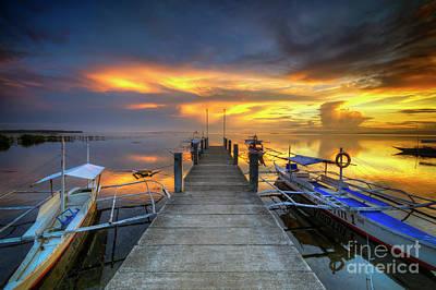Print featuring the photograph Panglao Port Sunset 8.0 by Yhun Suarez