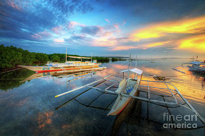 Photograph - Panglao Port Sunset 9.0 by Yhun Suarez