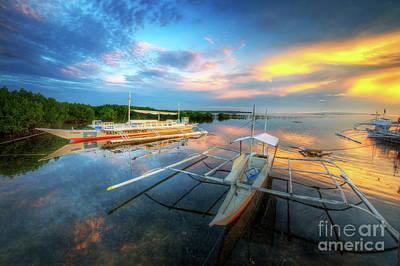 Print featuring the photograph Panglao Port Sunset 9.0 by Yhun Suarez