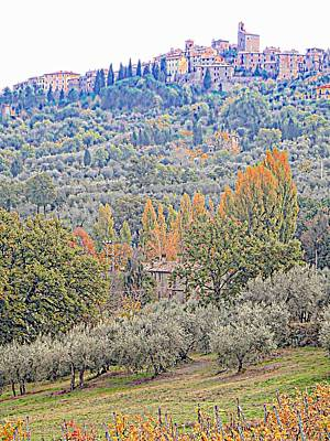 Photograph - Panicale In Autumn by Dorothy Berry-Lound
