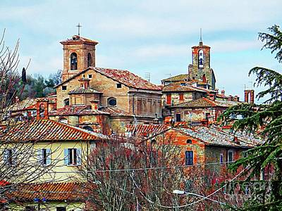 Photograph - Panicale Rooftops And Spires by Dorothy Berry-Lound