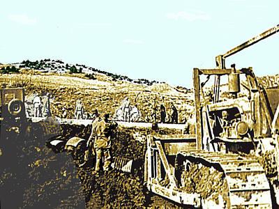 Photograph - Panmunjom,  Korea - My Platoon Constructing Our Prisoner Release Site, 1953 by Merton Allen