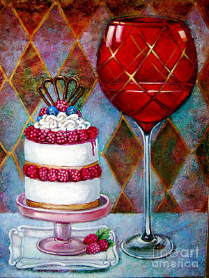 Dessert Wine Painting - Panna Cotta Ice Cream Sandwich by Geraldine Arata