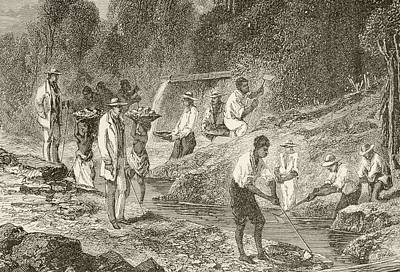 Wash Drawing - Panning For Diamonds. From The Book by Vintage Design Pics