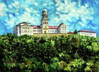 Painting - Pannonhalma by Kovacs Anna Brigitta