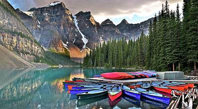 Photograph - Pano At Moraine by Frozen in Time Fine Art Photography