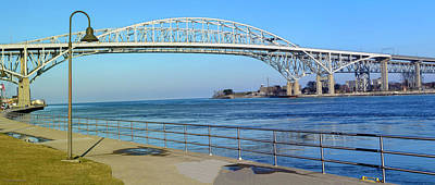 Photograph - Pano Bluewater Bridge Michigan by LeeAnn McLaneGoetz McLaneGoetzStudioLLCcom