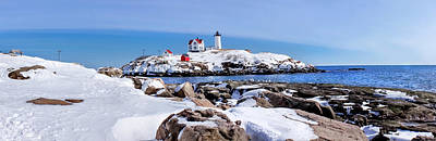 Photograph - Pano Nubble by Greg Fortier