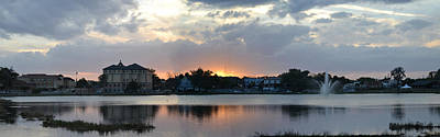 Photograph - Pano Of Lake City At Sunset by rd Erickson