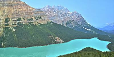 Photograph - Pano Of Peyto by Frozen in Time Fine Art Photography
