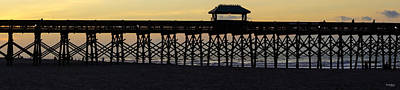 Photograph - Pano Pier Silhouette by Jennifer White