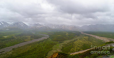 Photograph - Pano Raining Denali by Jennifer White