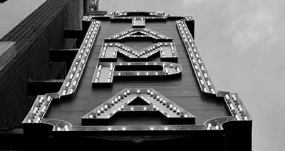 Photograph - Pano Tampa Theatre Sign by David Lee Thompson