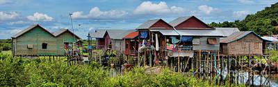 Pano Tonle Sap Homes  Art Print
