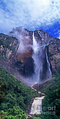 Photograph - Panorama Angel Falls Canaima National Park Venezuela by Dave Welling